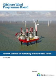 Offshore Wind Project Board The UK content of operating UK wind farms BVGA offshore wind consultants report