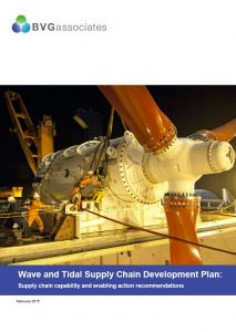 Wave and Tidal Supply Chain Development Plan BVGA offshore wind consultants report