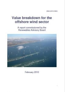 Value breakdown for the offshore wind sector February 2010