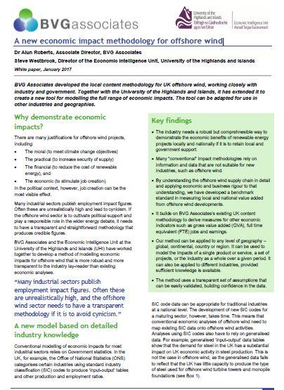 economic impact methodology for offshore wind