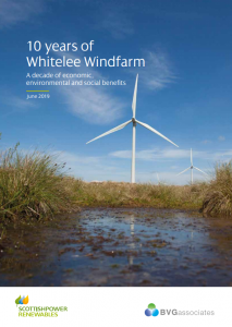 10 years if Whitelee Windfarm